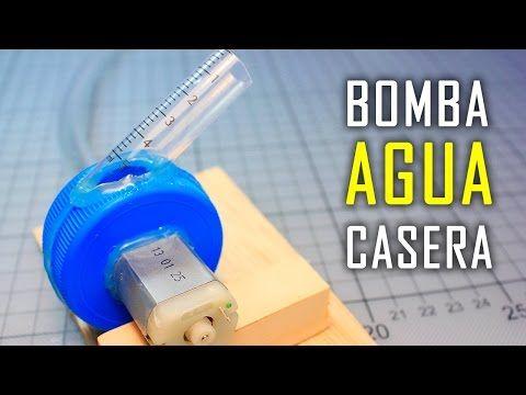 Mini Bomba de Agua Casera con Motor | Experimentos Caseros - YouTube ...