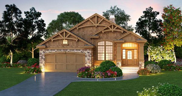 Plan 63272hd narrow lot rustic craftsman home plan for 55 wide house plans