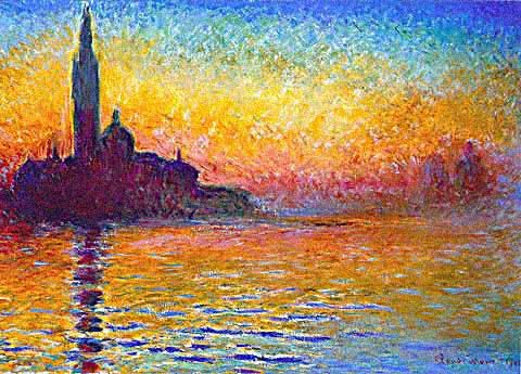 san giorgio maggiore at dusk art monet paintings. Black Bedroom Furniture Sets. Home Design Ideas