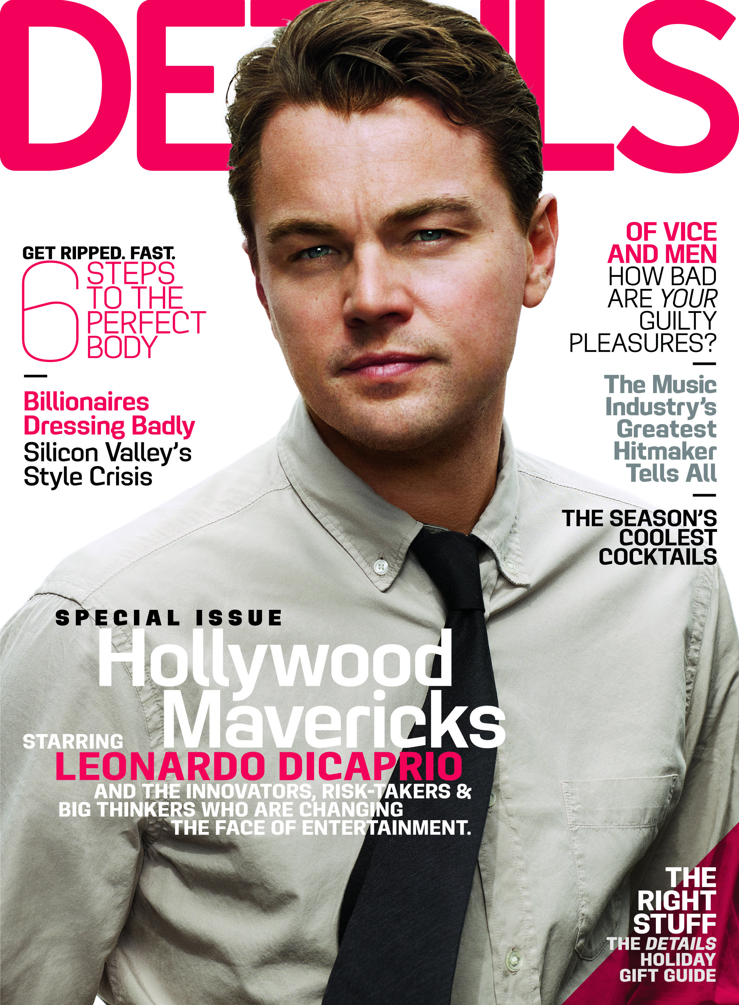 Leonardo DiCaprio Wearing Burberry On The Cover Of Details