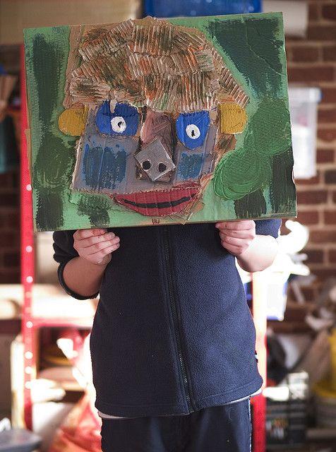 cardboard scrap portrait