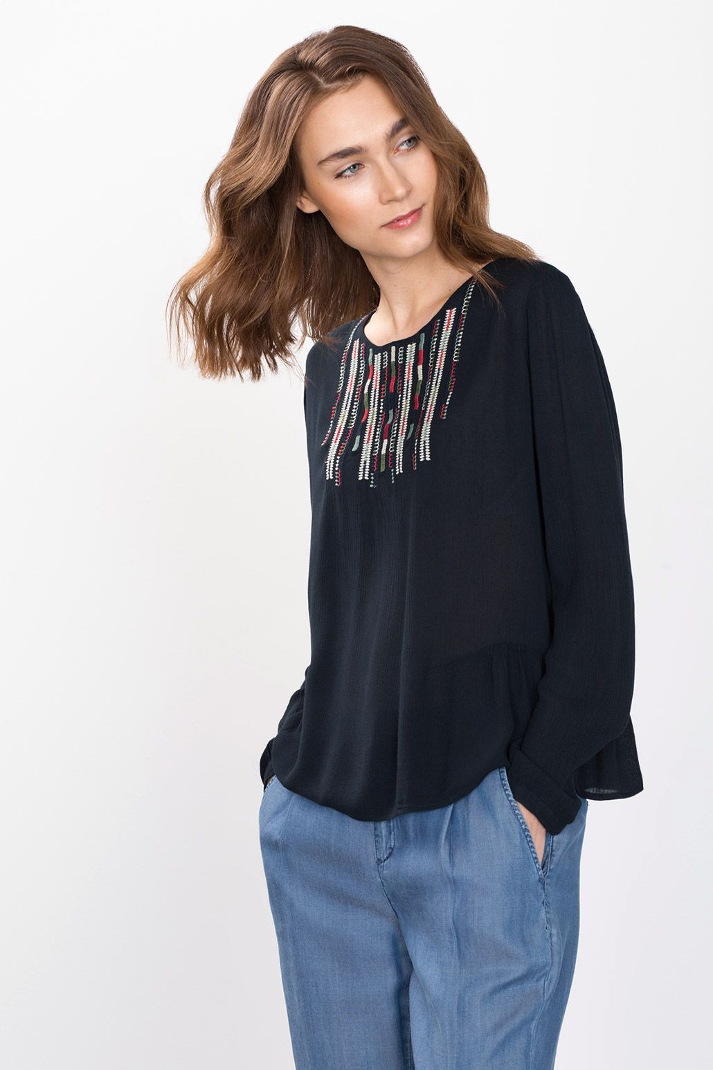 edc - Elaborately embroidered blouse at our Online Shop