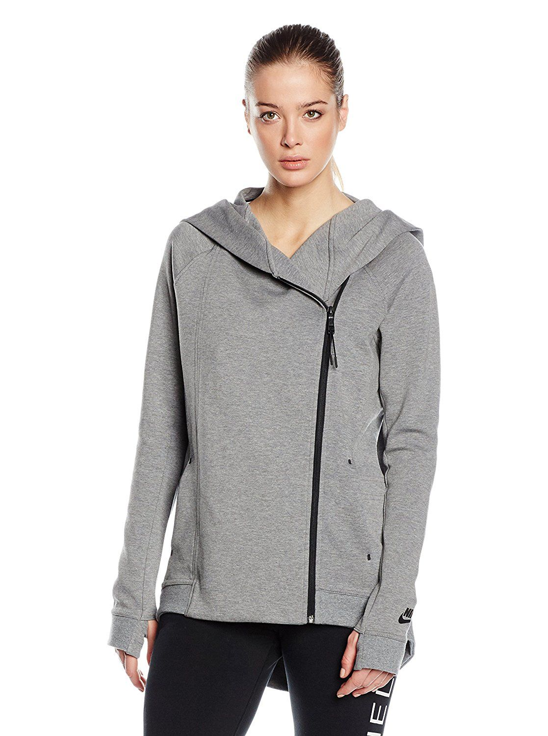 Nike Women s Tech Fleece Hooded Cape Jacket-Black     You can find more  details by visiting the image link. d28563ddfc