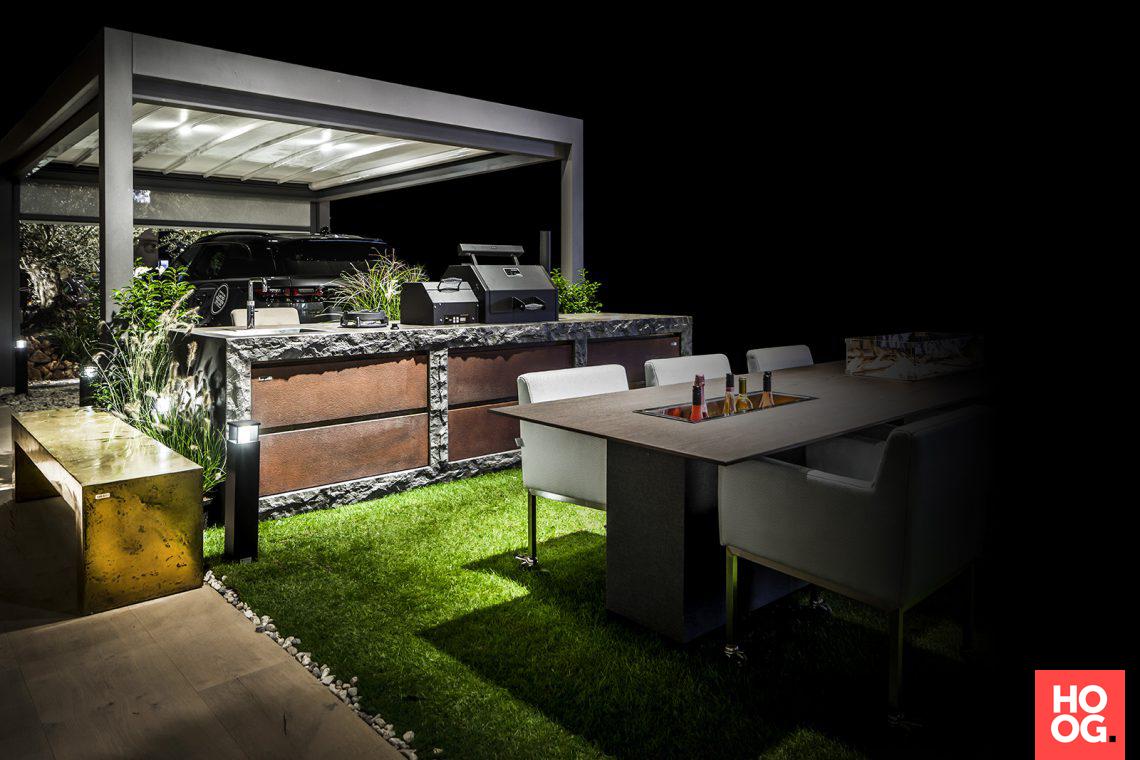 Grezzo buitenkeuken met koperen fronten patio patios