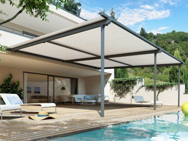 Auvent De Terrasse Aluminium Devant Votre Piscine Auvent Terrasse Auvent Pergola