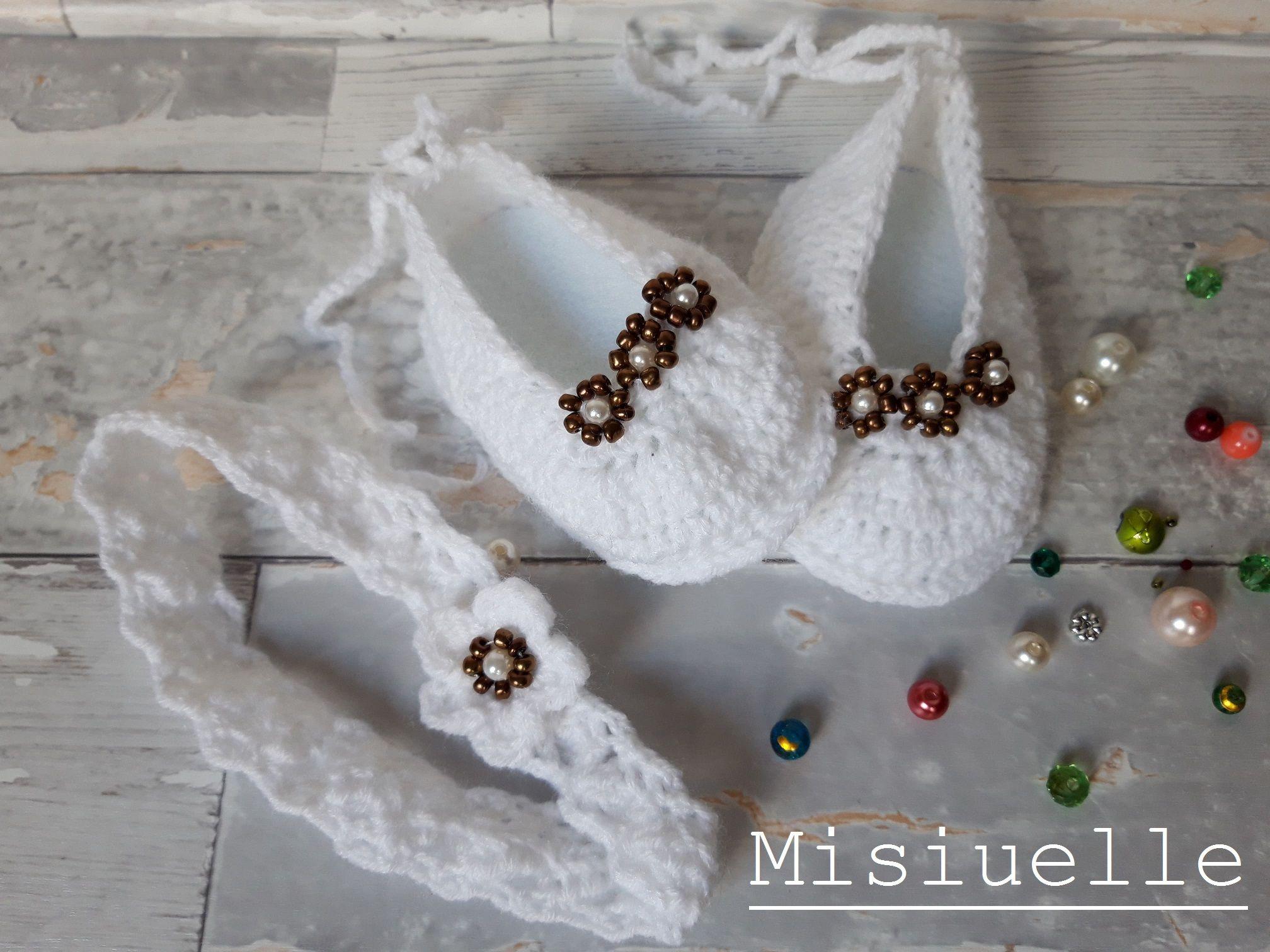 Buciki Niemowlece Baby Shoes Crochet Napkin Rings Home Decor Decor