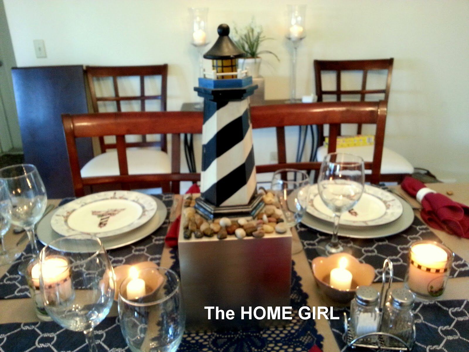 Lighthouse Centerpiece Idea Nautical Theme