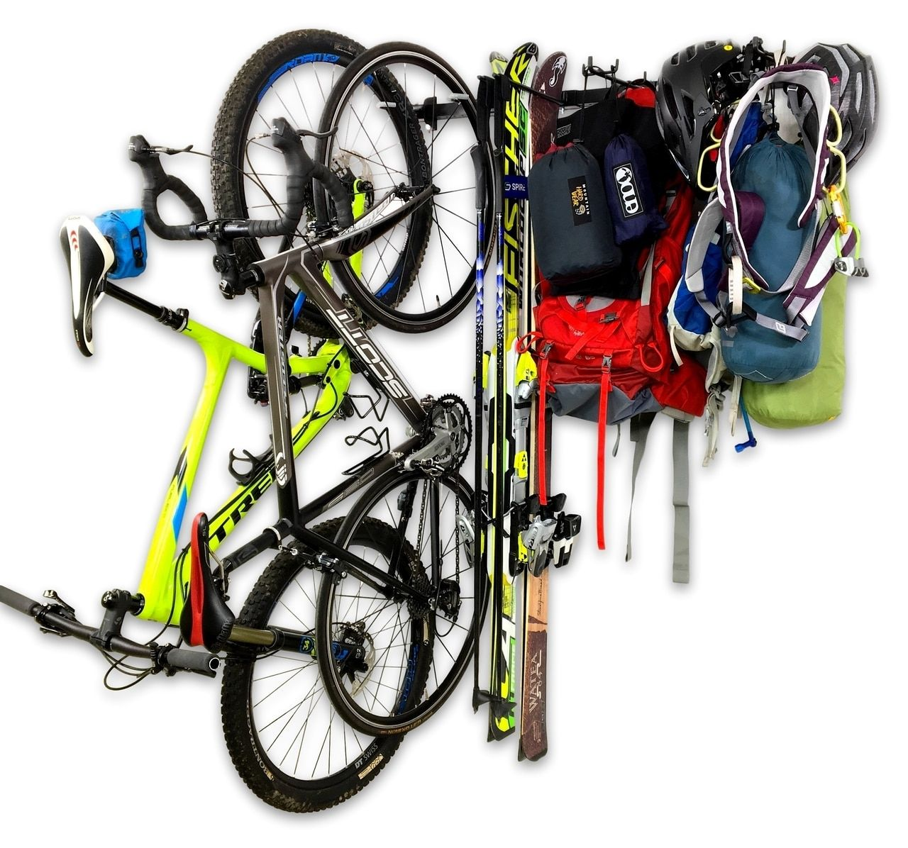 Adventure Gear Storage Rack Holds Bikes Skis Camping