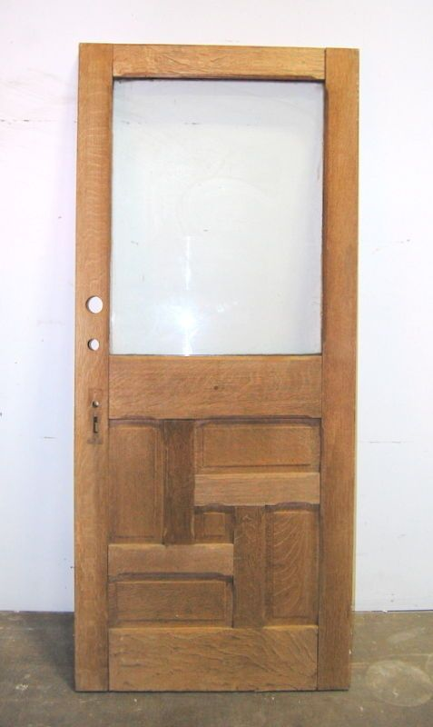 Antique Quarter Sawn Oak Entry Door Architectural Salvage 36  x 84  : door salvage - pezcame.com