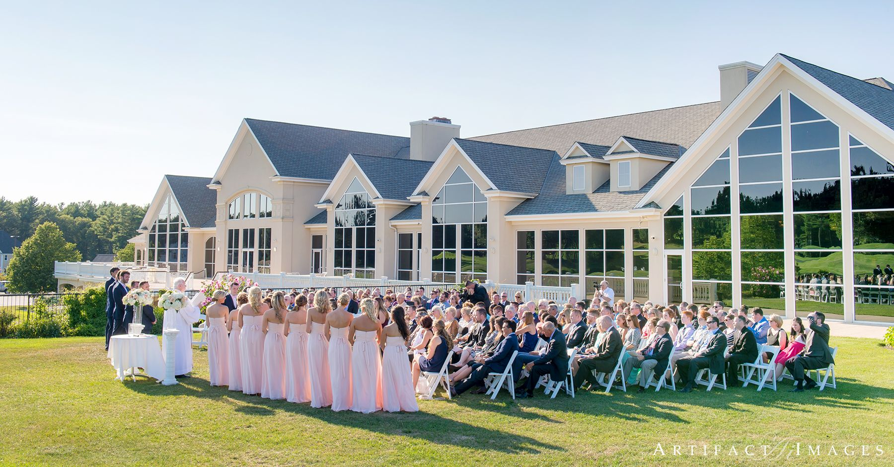 Wedding Ceremony At The Grand Indian Pond Country Club Kingston Ma Photography By Artifact Images Nh Me Serving All Of New