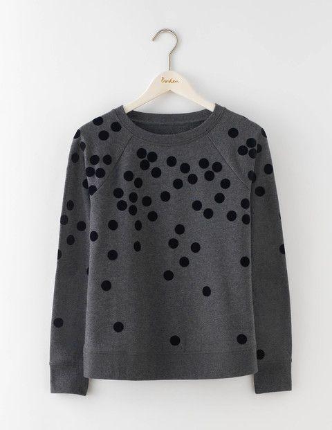 Getupftes sweatshirt wo116 tops mit langarm bei boden for Boden mode sale
