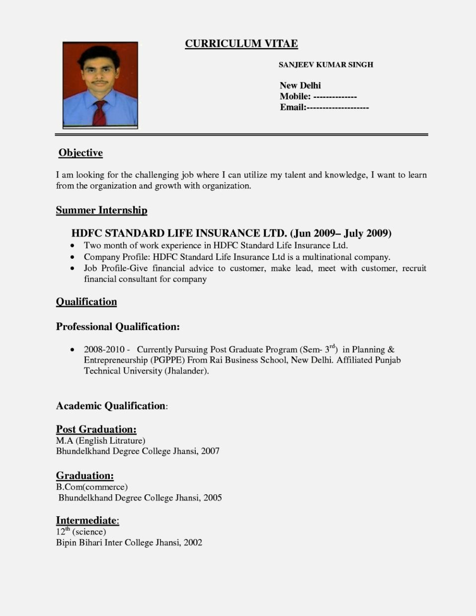 Resume Format For Hotel Management Fresher Pdf Check more