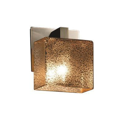 Justice Design Group Fusion 1 Light Bath Sconce Finish: Polished ...