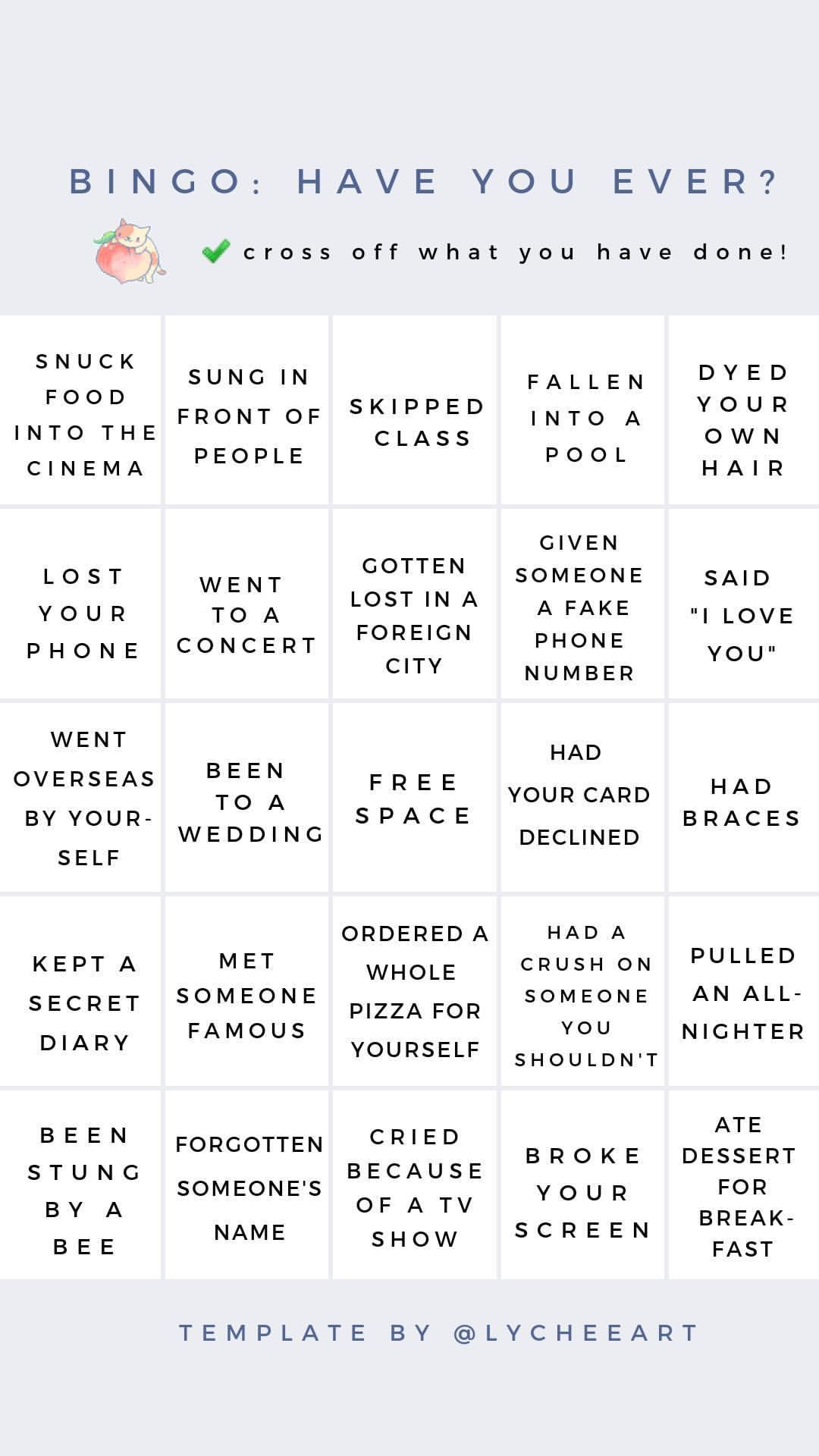 Stories Instagram Instagram Story Questions Bingo Template Snapchat Story Questions