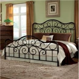 Standard Furniture King Size Bed 56226a Antique Brown Winter Bedroom Decor Iron Headboard King Metal Bed Metal king size bed frame