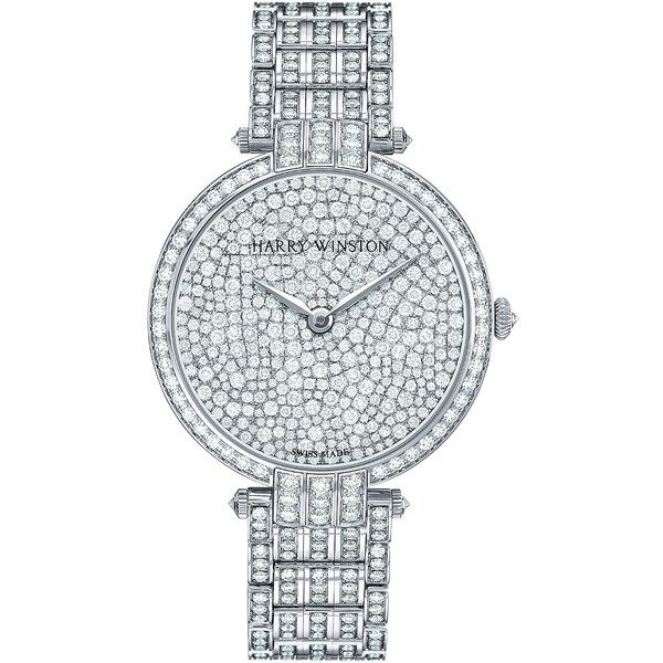 Harry Winston Premier Ladies Quartz 36mm prnqhm36ww004 Watch ($148,650) ❤ liked on Polyvore featuring jewelry, watches, quartz wrist watch, quartz watches, quartz jewelry, harry winston jewelry and bezel watches