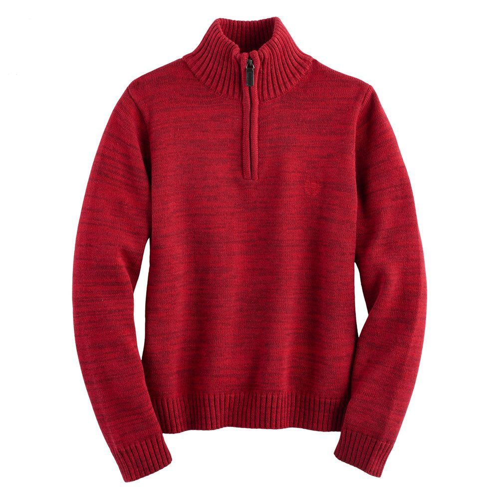 Chaps Boys 4-20 Quarter-Zip Marled Sweater | Products