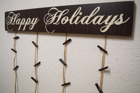 Happy holidays card hanger christmas card holder christmas happy holidays card hanger christmas card holder christmas holidays greeting cards greeting card display christmas card sign m4hsunfo