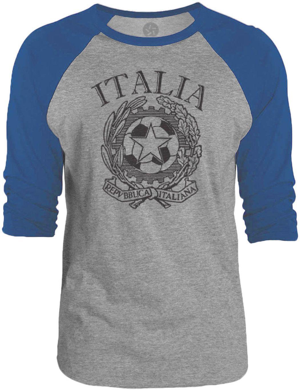Big Texas Italy 2014 (Black) 3/4-Sleeve Raglan Baseball T-Shirt