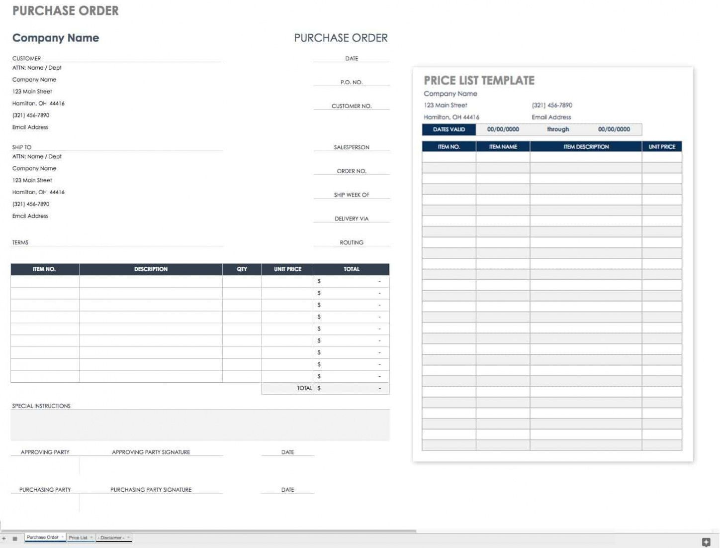 Browse Our Image Of International Purchase Order Template For Free Purchase Order Template Invoice Template Invoice Template Word