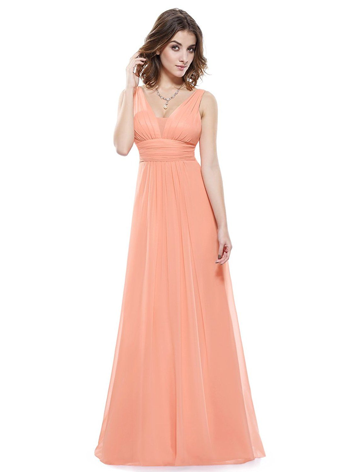 966674d97ef Ever Pretty Double V-Neck Ruched Waist Ladies Long Evening Dress 08110    Quickly view this special product