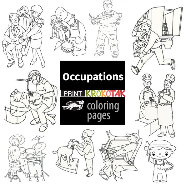 Occupations   Colouring Pages. Creative ArtSocialLanguage ...
