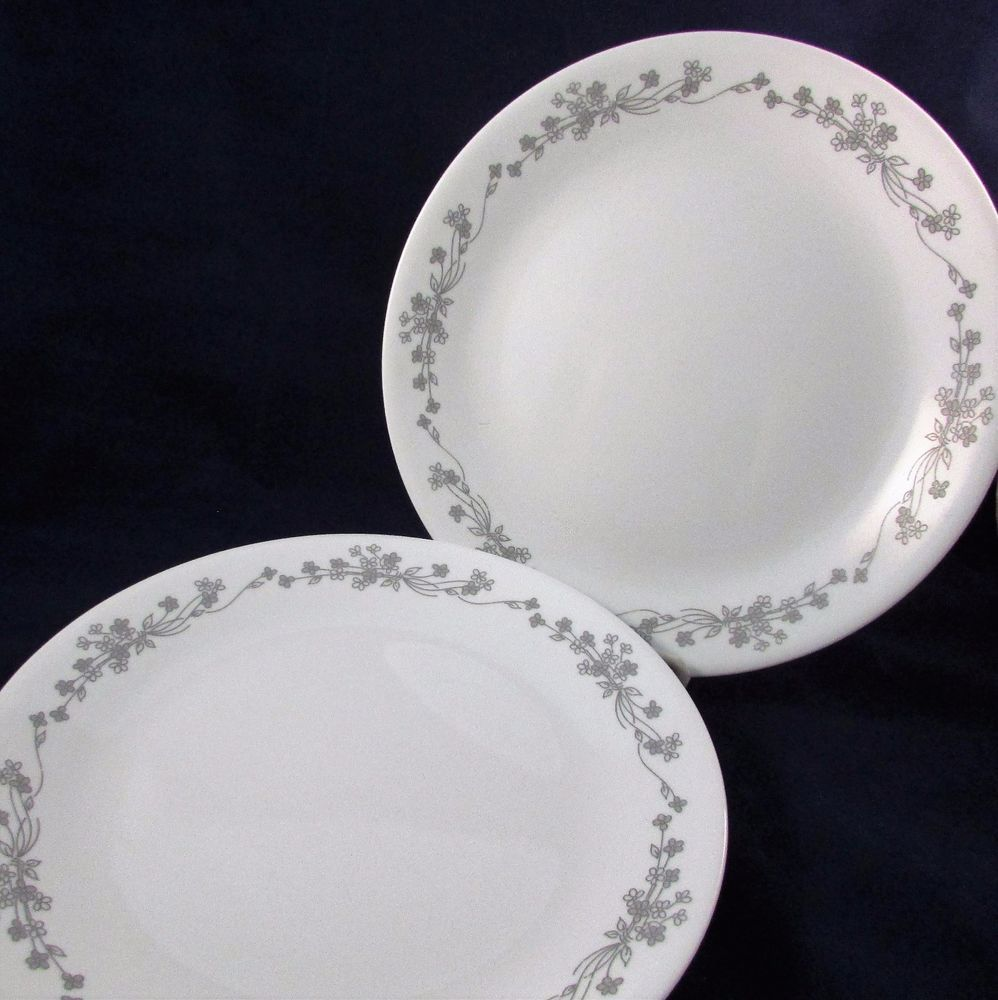 Set Of 2 Corelle RIBBON BOUQUET 10 1/4\
