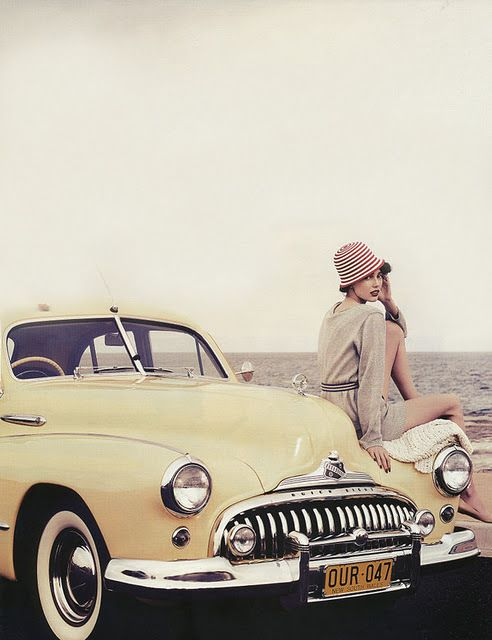 Fashion Girl Model Old Car Outfit Favim Com 441363 Large With