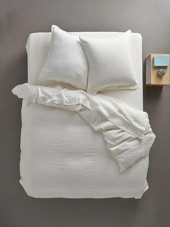 housse de couette parure lin lav bleu vert corail encre ivoire ocre textile. Black Bedroom Furniture Sets. Home Design Ideas