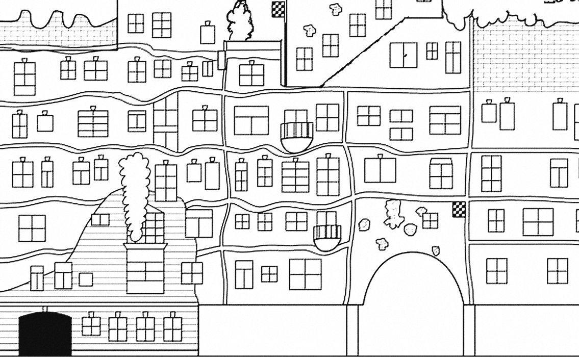 Malvorlage Hundertwasser Haus Aiquruguay