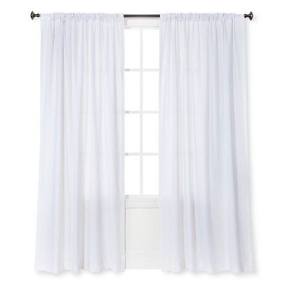 Linen Look Curtain Panel White Threshold With Images White