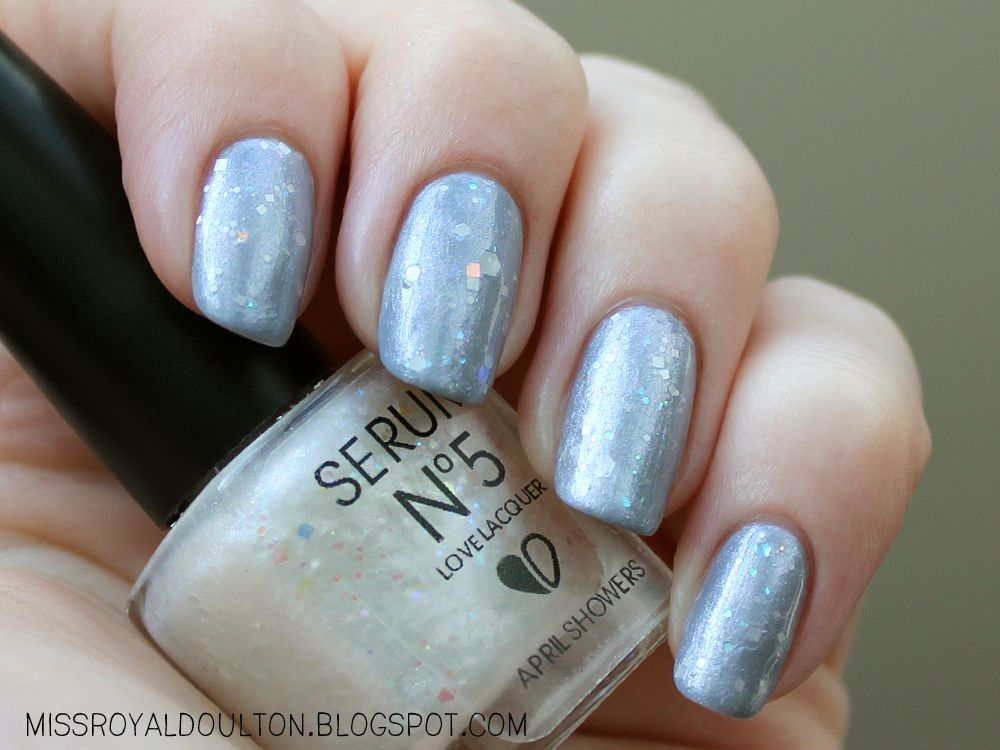 Serum No. 5 April Showers over Essie Cocktail Bling