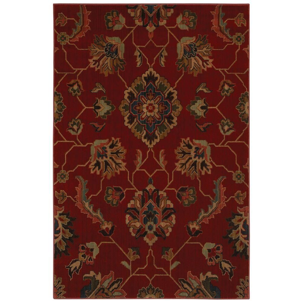 Mohawk Home Canton Red 10 ft. x 13 ft. Area Rug-313401 - The Home ...
