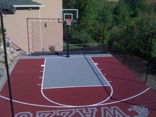 Backyard Basketball Court | Basketball court backyard ...