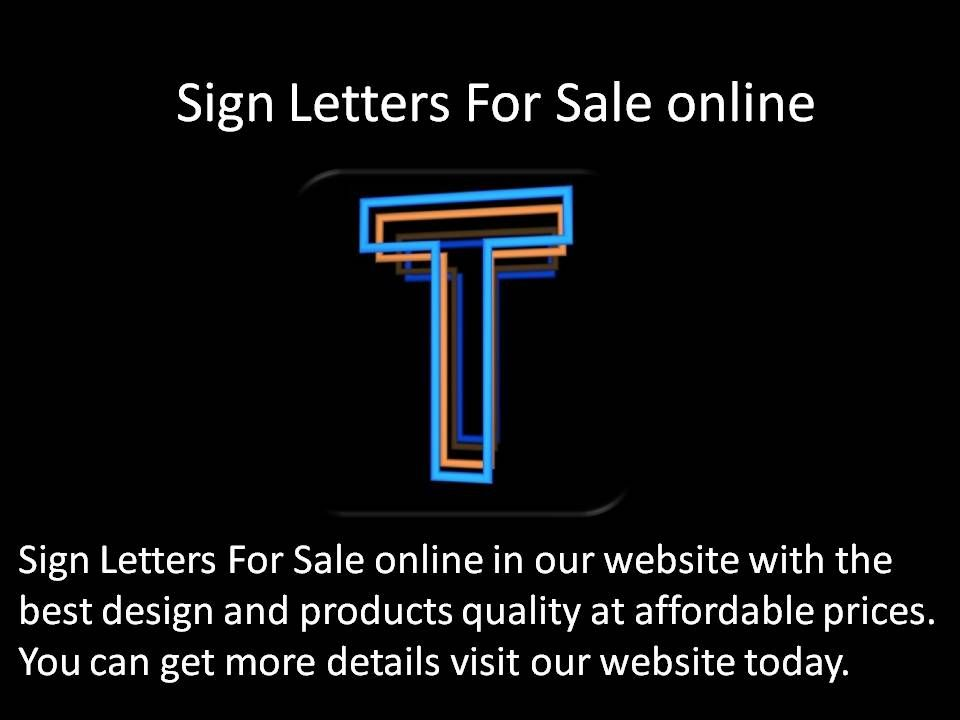 Sign Letters For Sale online in our website with the best design and ...
