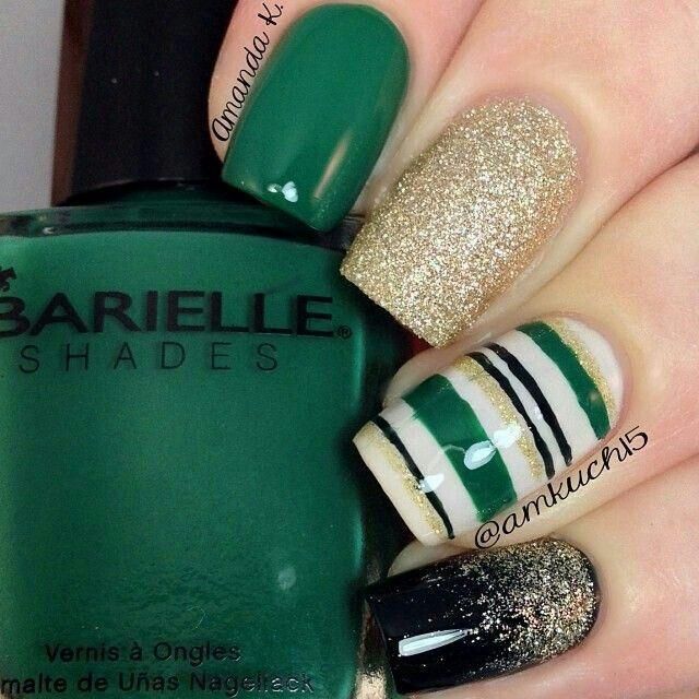 St.Patricks Day Nails | Nails 4 | Pinterest | Diseño de navidad ...
