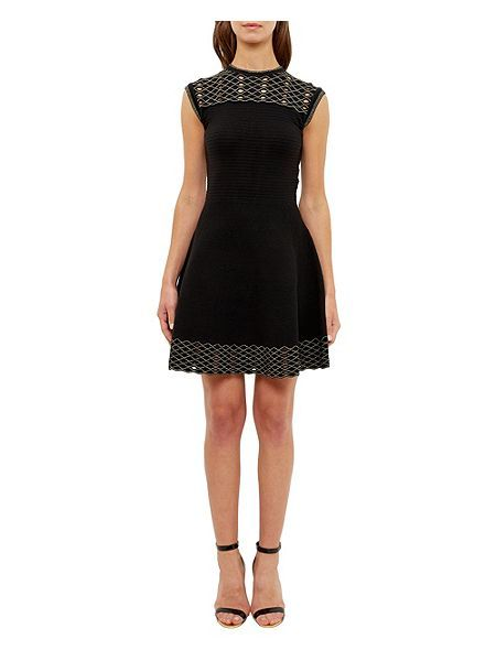Ted Baker Tessai Knitted Sparkle Skater Dress - House of Fraser