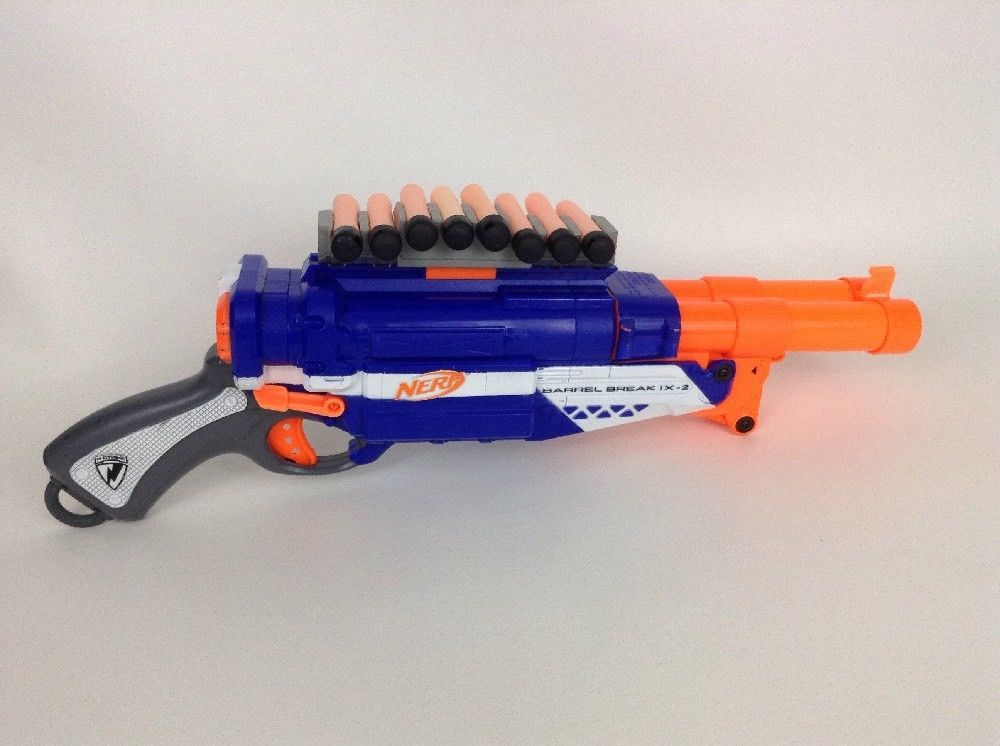 Nerf Gun N-Strike Barrel Break 1X-2 Double Barrel Shotgun Ammo Holder  w/Darts