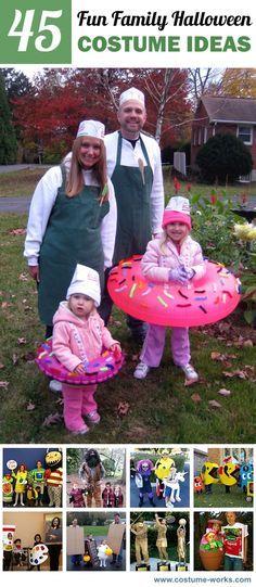 45 Fun Family Halloween Costume Ideas  sc 1 st  Pinterest & 45 Fun Family Halloween Costume Ideas | Costumes Halloween costumes ...