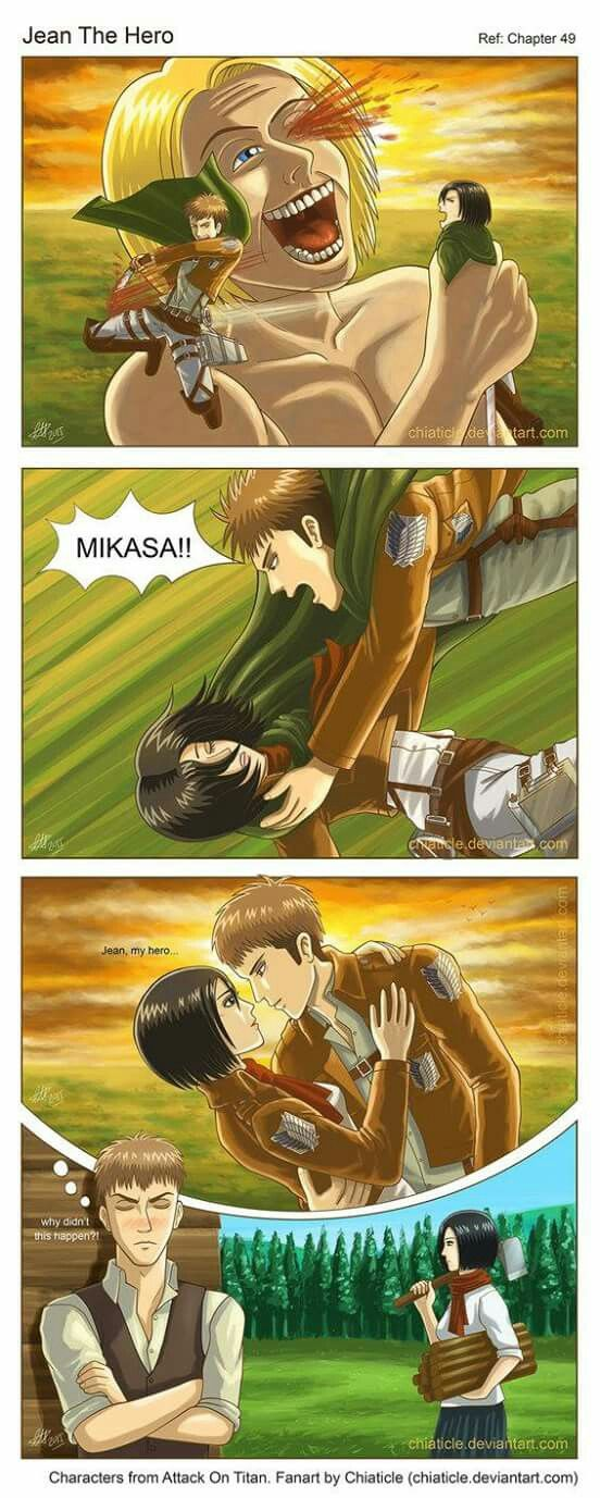 Jeankasa Jeanmika Jean X Mikasa Shingeki No Kyojin Attack On Titan Love Anime Ships