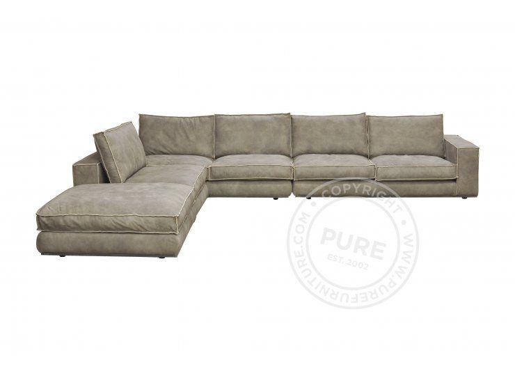 Senna Elements Sofa Savannah Leather Modern Sectional