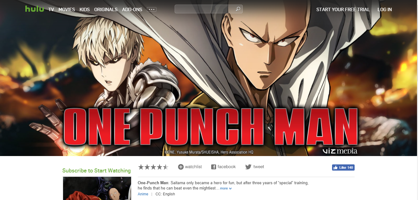 20 Best Sites To Watch One Punch Man English Dubbed