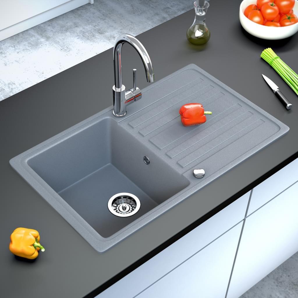 Bergström Granit Spüle Küchenspüle Einbauspüle Spülbecken