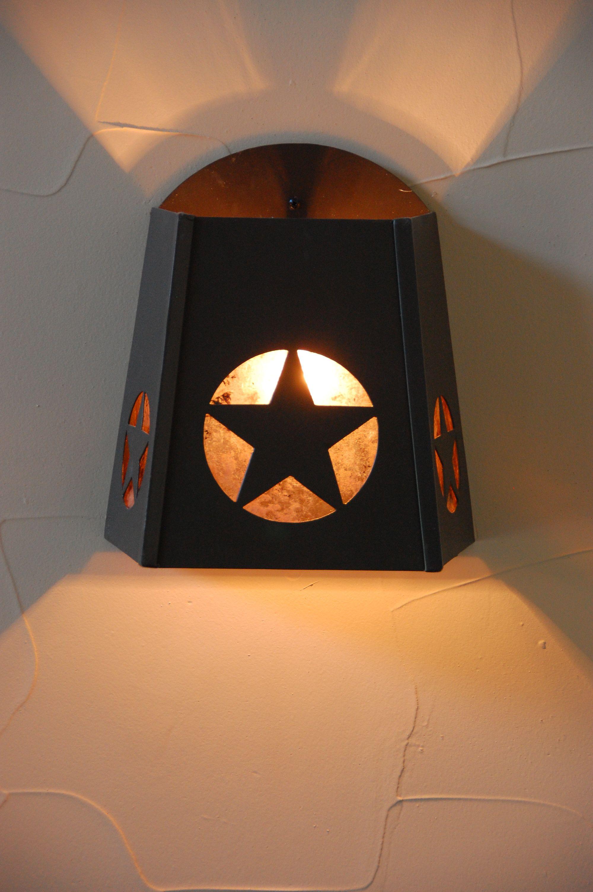 Texas star light, star light, sconce, texas sconce | Texas ...
