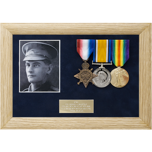 Although a simple medal frame to complete, the logistics involved in ...