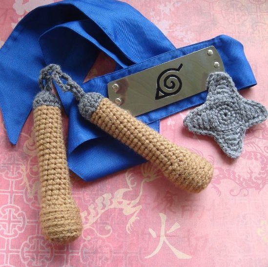 Nunchucks and Shuriken! Free patterns. | Amigurumi and other crafts ...