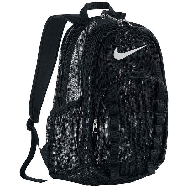 1a3cc2dd18 Nike Brasilia XL Mesh Backpack ❤ liked on Polyvore featuring bags ...