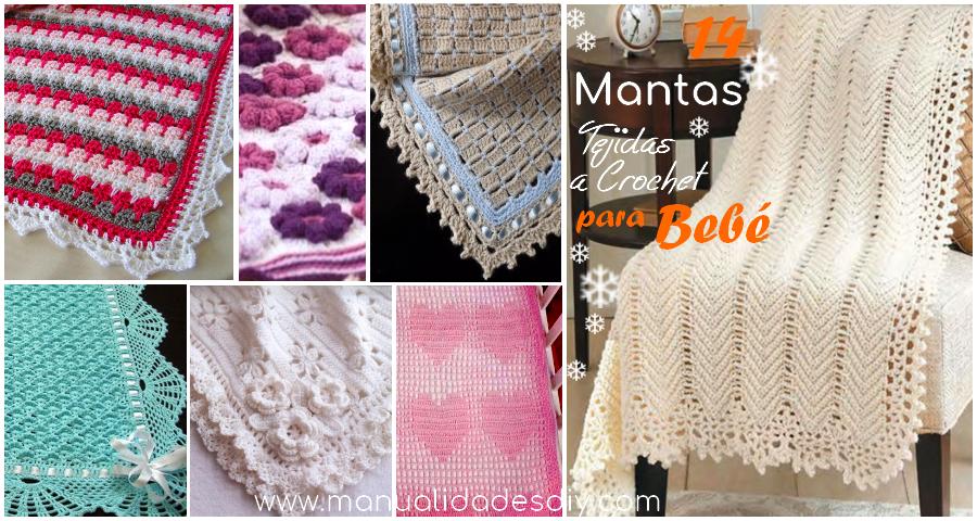 Colchas y Mantas Tejidas a Crochet para Bebe con Patrones | crochet ...