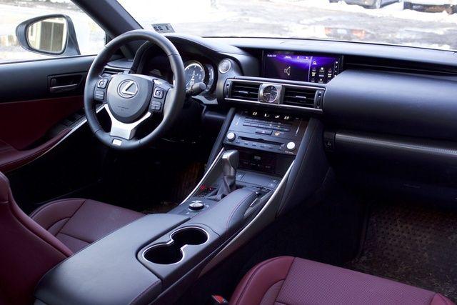 2017 Lexus IS 350 Red Interior