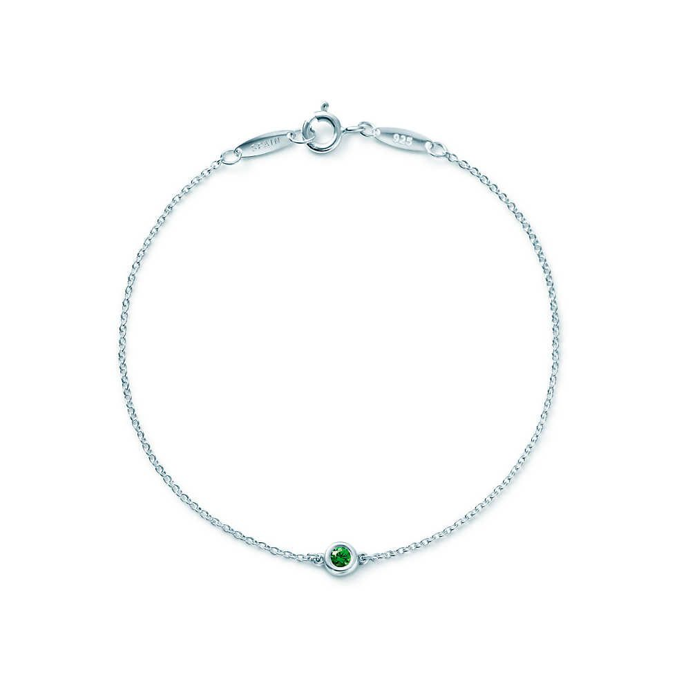 827cbd1aceef Elsa Peretti® Color by the Yard bracelet in sterling silver with a  tsavorite.